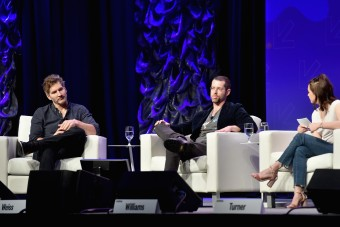 AUSTIN, TX - MARCH 12: (L-R) Writers David Benioff, D.B. Weiss, and actor Maisie Williams speak onstage at 'Featured Session: Game of Thrones' during 2017 SXSW Conference and Festivals at Austin Convention Center on March 12, 2017 in Austin, Texas. (Photo by Amy E. Price/Getty Images for SXSW)